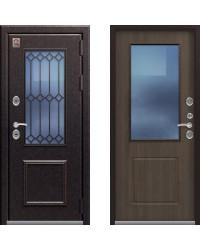 Дверь входная уличная TС - 1  металл / МДФ 16 мм / стеклопакет