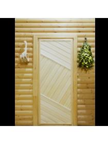 Дверь межкомнатная ПГ 2 для бани из липы