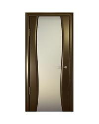 Дверь межкомнатная, Океан, Буревестник-2 ДО, белое стекло, Венге