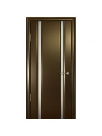 Дверь межкомнатная, Океан, Шторм-2 ДО, белое стекло, Венге