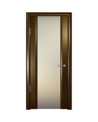 Дверь межкомнатная, Океан, Шторм-3 ДО, белое стекло, Венге