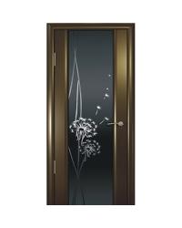 Дверь межкомнатная, Океан, Буревестник-2 ДО, Одуванчик, Тон стекло, Венге