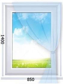 Одностворчатое глухое окно