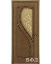 Дверь межкомнатная 10 ДО светлый дуб, орех