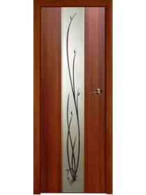 Дверь межкомнатная Гранд зеркало с рисунком