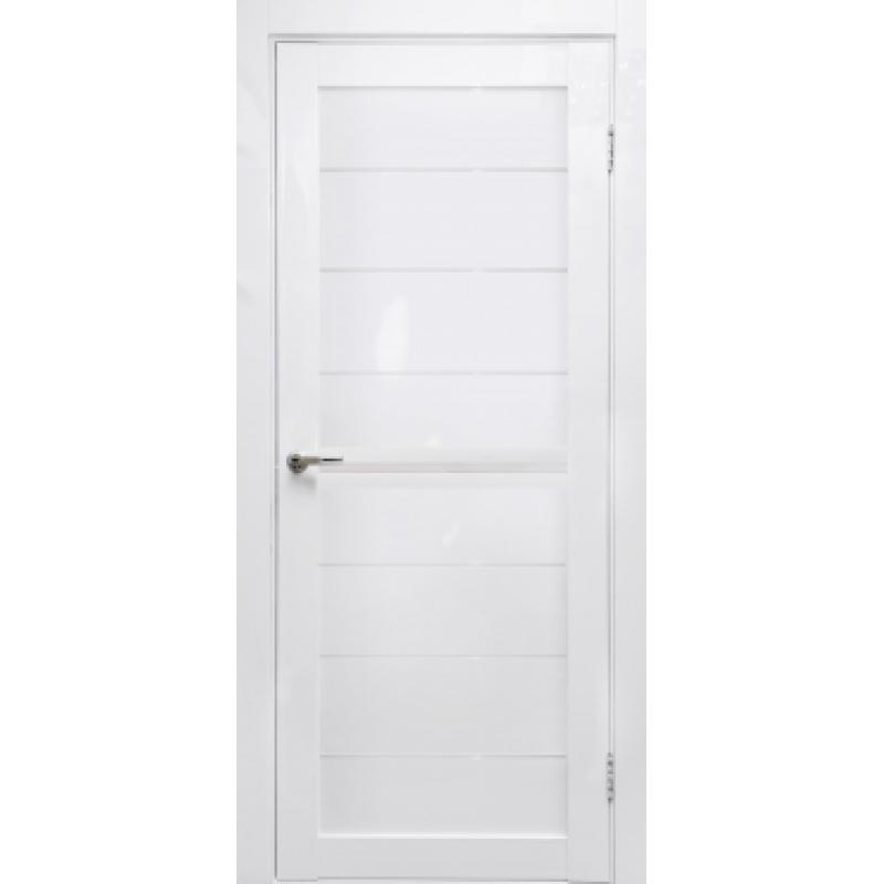 Дверь межкомнатная готовая к установке Вектор белый глянец (комплект)